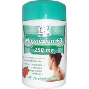 Magnézium + B6-vitamin rágótabletta - 45db