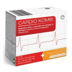 Cardio Kombi Q10, L-karnitin és Omega-3 halolaj kapszula - 60+60db