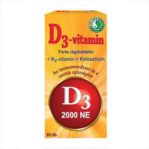 D3-vitamin forte rágótabletta - 60db