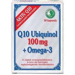 Q10 Ubiquinol 100mg + Omega-3 kapszula - 30db