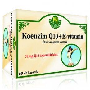 Koenzim Q10 + E-vitamin kapszula - 60db