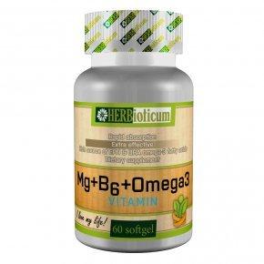 Magnézium + B6 + Omega-3 kapszula - 60db