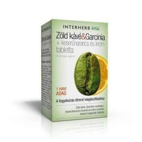 Vital zöld kávé & garcinia tabletta - 60 db