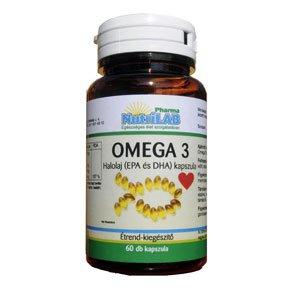 Omega-3 halolaj 500mg kapszula - 60db